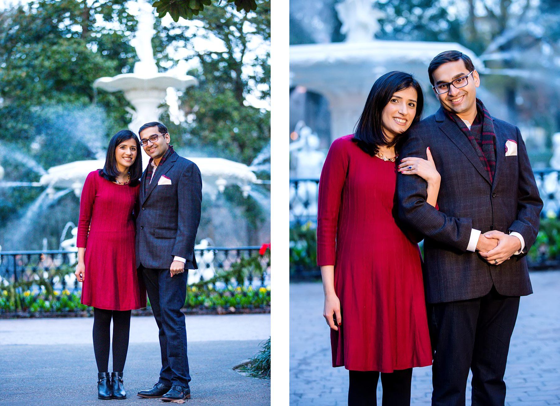 Forsyth Park Savannah Georgia Engagement Session